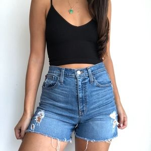 J.Crew high rise denim shorts
